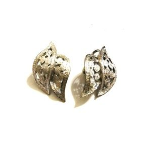 Vintage Silver Leaf Earrings